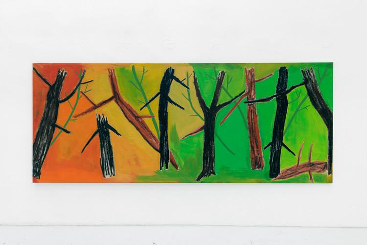 Trippy Bayou Oil and acrylic on Linen