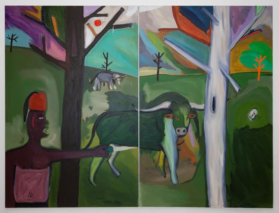 Moorish Forest Oil and acrylic on canvas (2 panels)