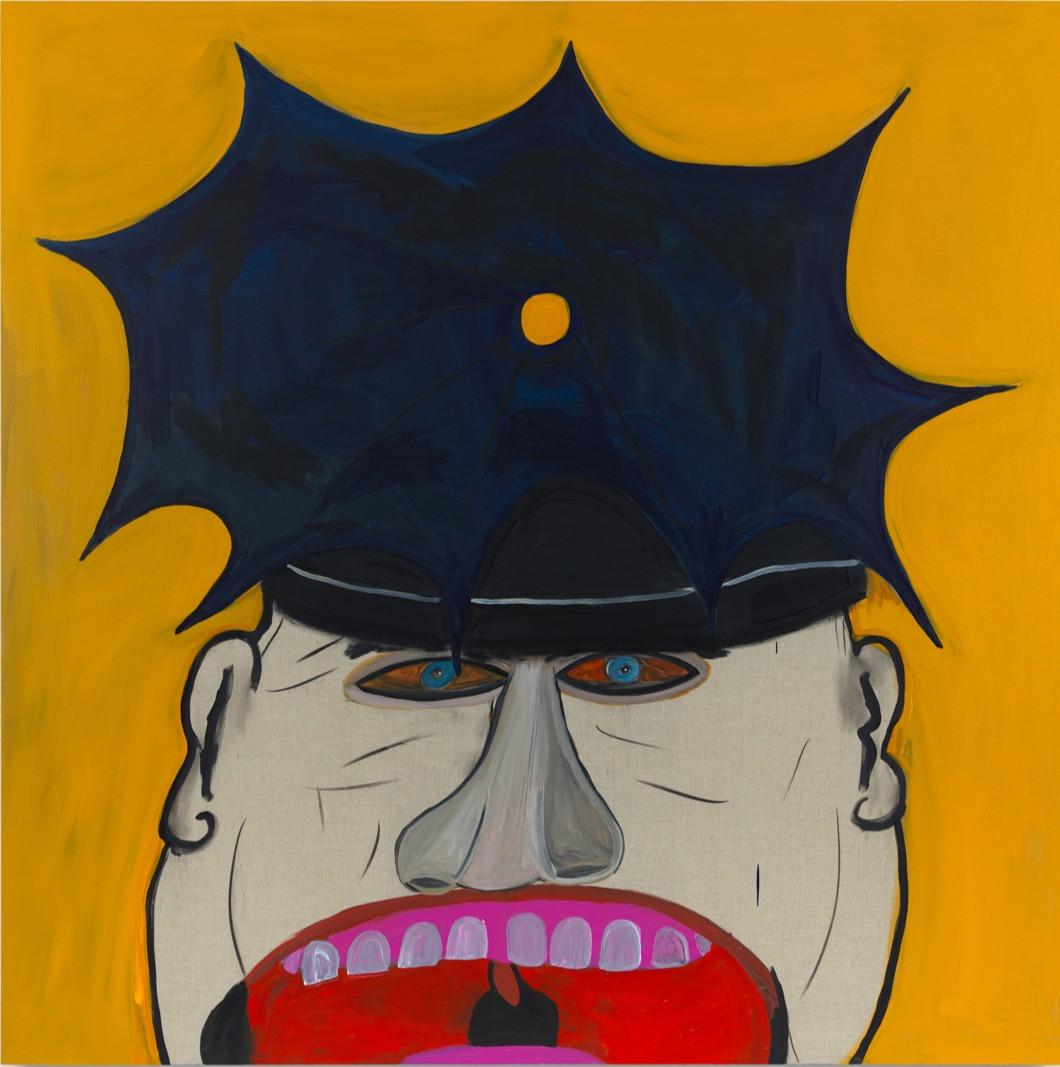 "Cop Acrylic on Linen 60 x 60"""