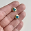 Thumbnail: Gold Leland Blue Rolled Nugget Studs