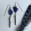 Thumbnail: Cobalt Beach Glass Dangles