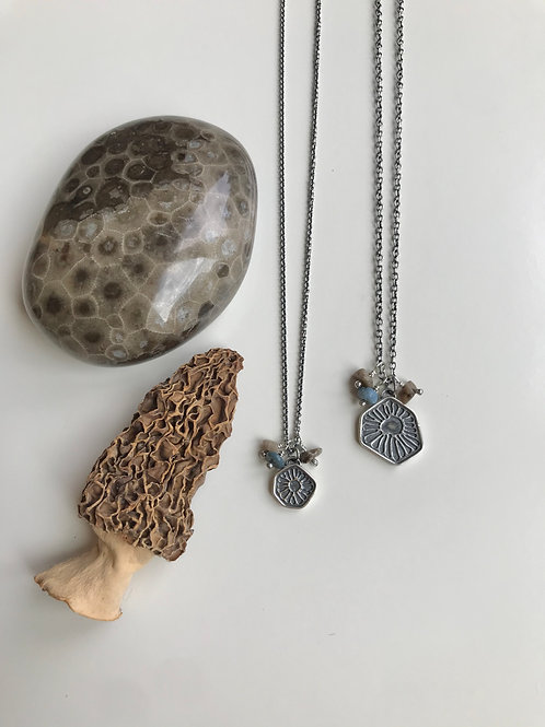Petoskey Pattern Charm Necklaces
