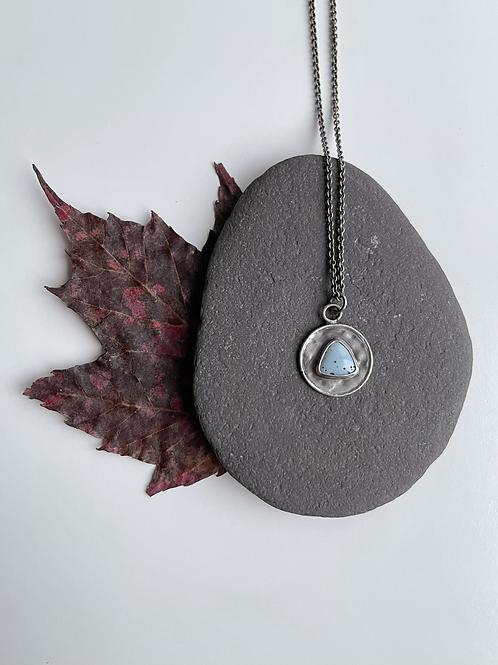 CLEARANCE Leland Blue Burlap Necklace