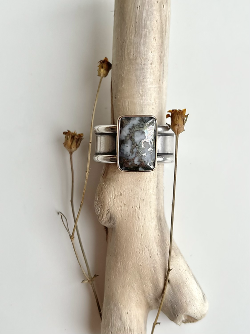 Mixed Metal Mohawkite Ring