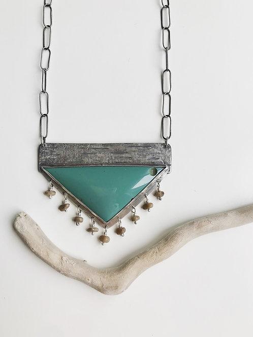 CLEARANCE Leland Blue Petoskey Stone Statement Necklace