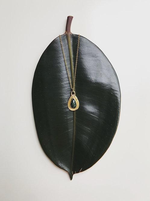 Gold Michigan Greenstone Necklace