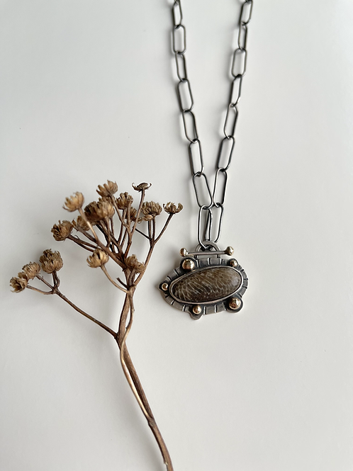 Charlevoix Line and Dot Necklace
