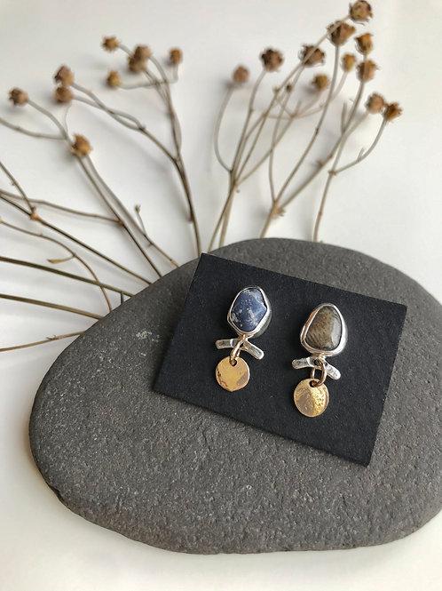 Petoskey Stone and Leland Blue Studs