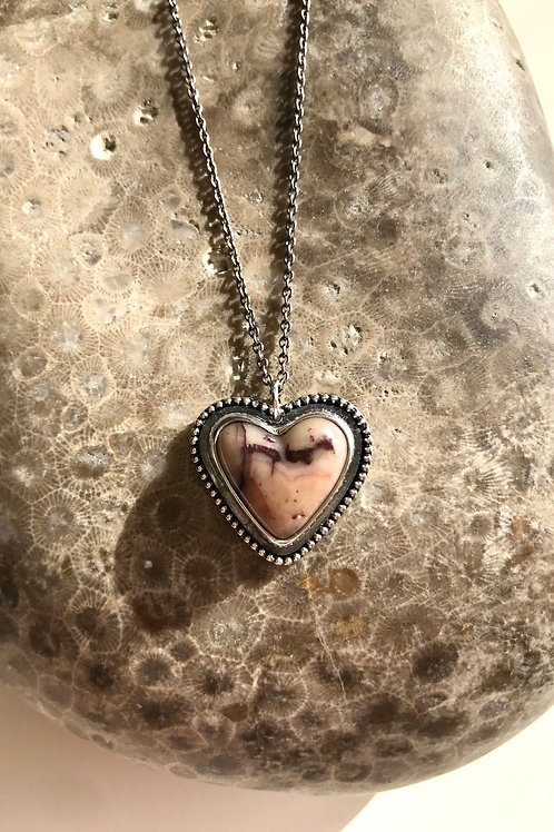 Kona Dolomite Candy Heart Necklace