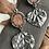 Thumbnail: Keweenaw Agate and Quaking Aspen Leaf Earrings