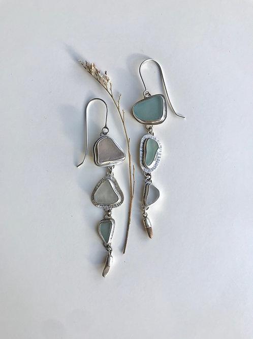 Lake Michigan Beach Glass Earrings