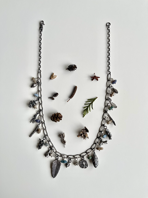 Lake Michigan Forest Charm Necklace