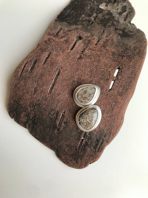 CLEARANCE Charlevoix Stone Lighthouse Studs