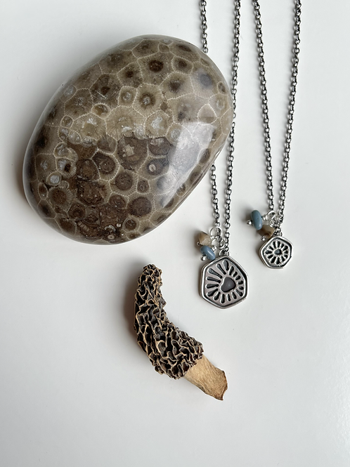MADE TO ORDER Petoskey Pattern Charm Necklaces