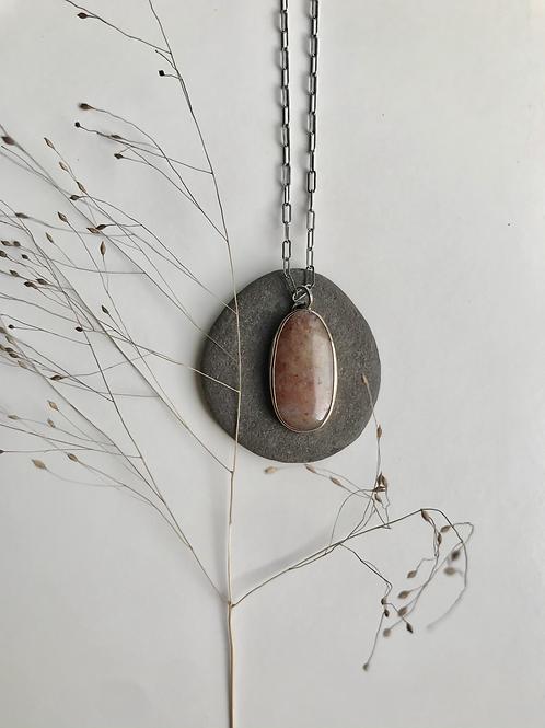 Gold and Silver Lake Michigan Quartz Necklace
