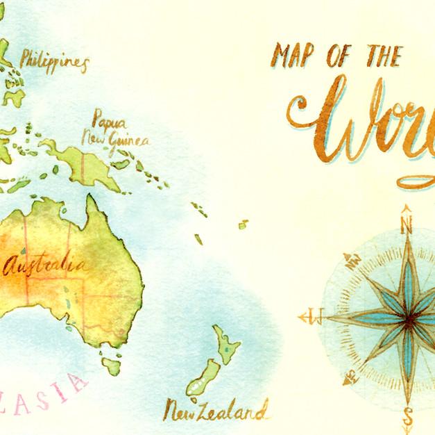 Nicole Berlach MAP WORLD
