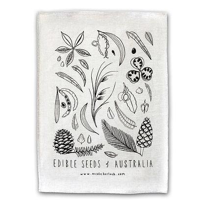 LINEN TEA TOWEL | EDIBLE SEEDS