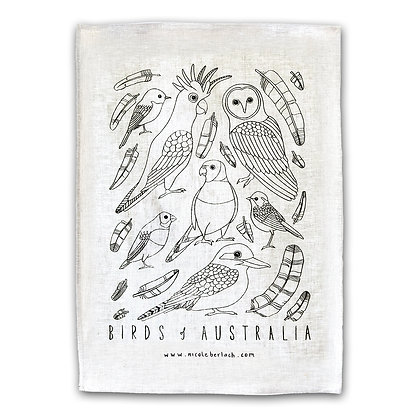 LINEN TEA TOWEL | BIRDS