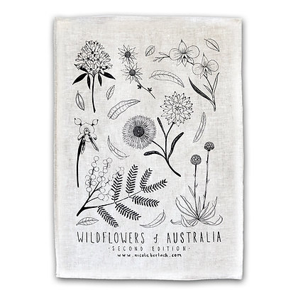 LINEN TEA TOWEL | WILDFLOWERS 2nd Ed.