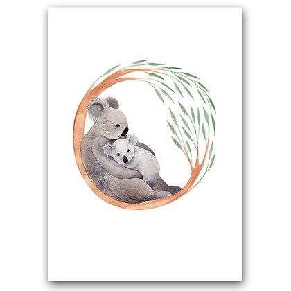 KOALA FAMILY | A4 Art Print