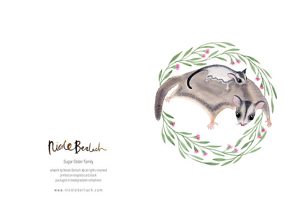 WH GREETING CARD | SUGAR GLIDER FAMILY