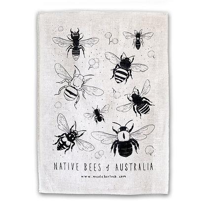 LINEN TEA TOWEL | NATIVE BEES