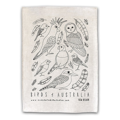 WH TEA TOWEL | BIRDS
