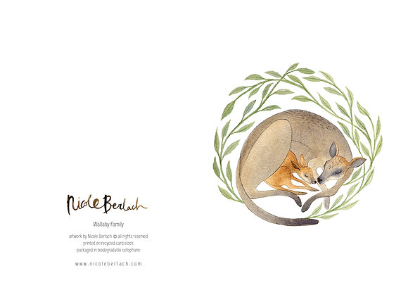 WH GREETING CARD | WALLABY FAMILY
