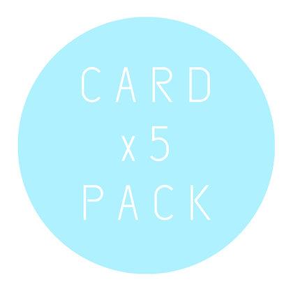 GREETING CARD | x5