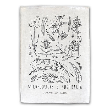 LINEN TEA TOWEL | WILDFLOWERS