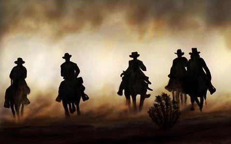 art cow boy illustration western
