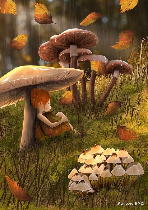 illustration, illustratrice, suisse, france, belgique, halloween, vectoriel, digitalpaining, automne