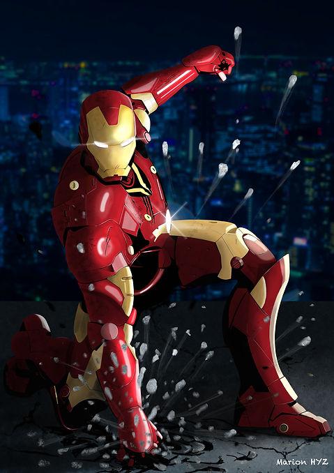 Iron man, illustration, digitalpainting