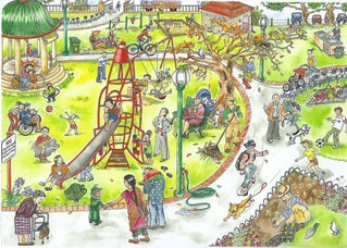Playground detail 'busy' picture for Teaching aid resource