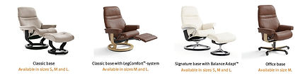 stressless-sunrise-recliner-base-options