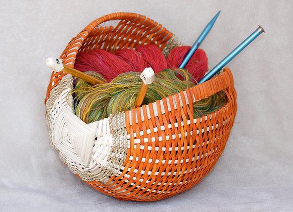 Irishing Knitting Basket