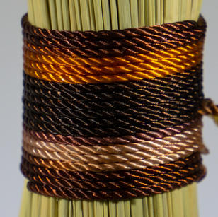 Variegated Brown Orange