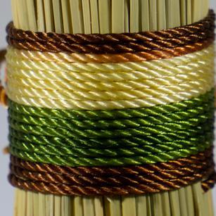 Varigated Brown Green Straw