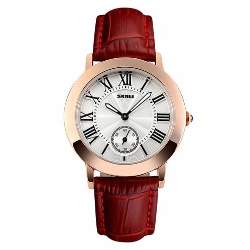 SKMEI Reloj 1083 – Cuero Rojo