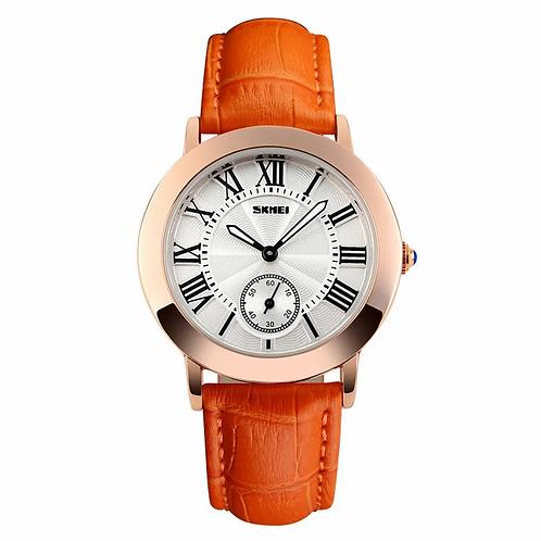 SKMEI Reloj 1083 – Cuero Naranja
