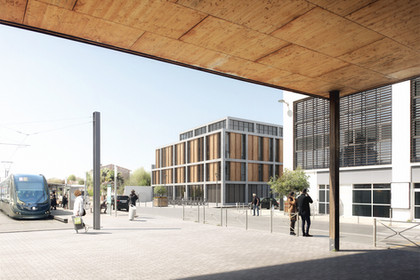 MIXED-USE BLOCK IN PESSAC, FRANCE