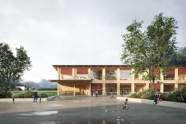 PRIMARY SCHOOL IN NEIRIVUE, SWITZERLAND