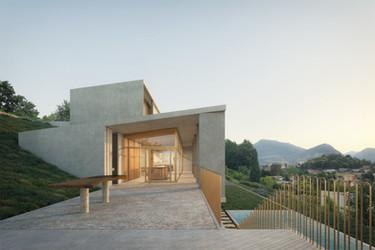 HOUSE IN BREGANZONA, SWITZERLAND