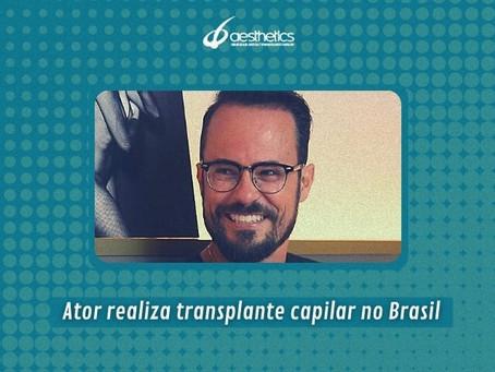 Ator Paulo Vilhena realiza novo transplante capilar no Brasil