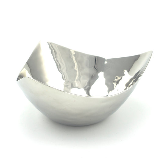 Triangular Hammered Salad/Nuts Bowl