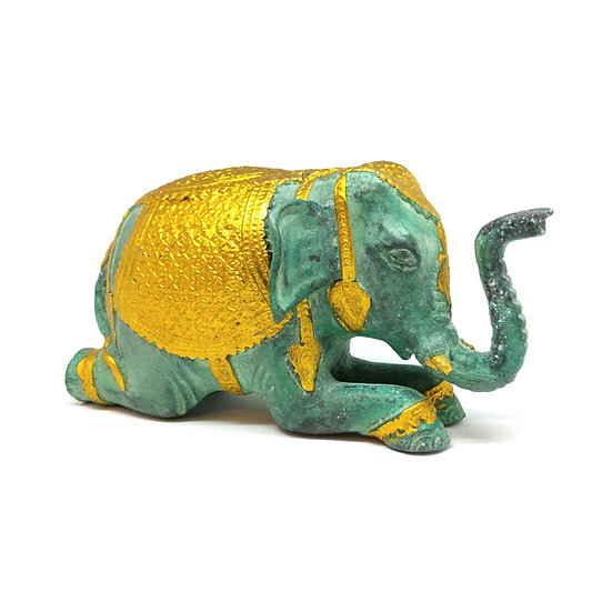 Royal Turquoise Green Elephant