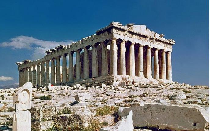 Rebuilding of part of the Parthenon