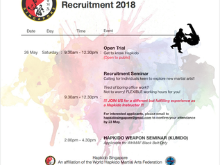 Hapkido Recruitment Seminar 2018