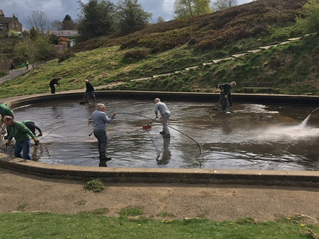 Ilkley Paddling Pool gets a spring clean