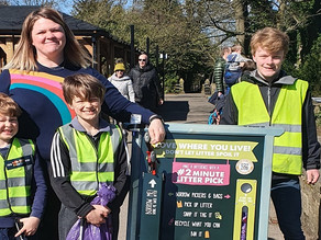 2 minute litter pick comes to Ilkley